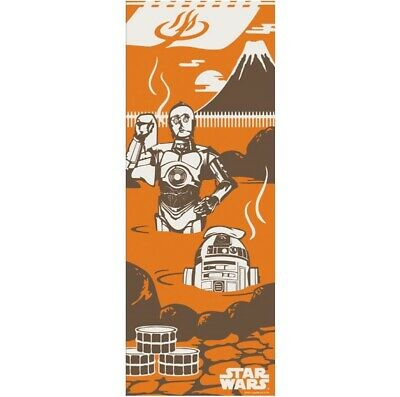 STAR WARS TENUGUI Japanese Cotton Fabric Hand Towel MADE IN JAPAN 90X34cm T37
