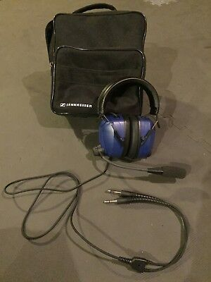 Sennheiser HME 100 Aviation Headset With Carry Bag And Manual