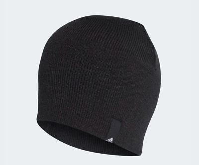 Adidas Men's Performance Beanie Black Warm Winter Hat OSFM Stretch Fit New