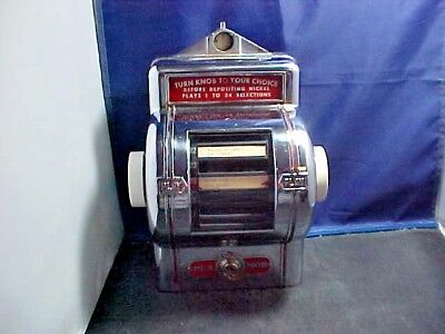 Vintage Table Top Jukebox Song Selector