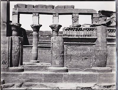 EGYPT OLD PHOTO. Temple of Phila during the disassembly and transportation lot 9