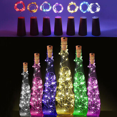 20 LED Wine Bottle Lights Copper Wire for Christmas Halloween Table Decor