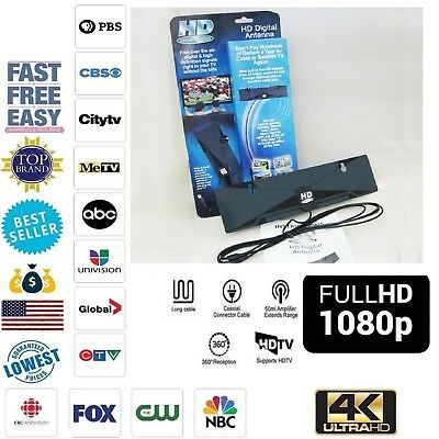HD Clear Vision Antenna 1080P TV Digital 50 Mile RangeTV Indoor 4K Coax Cable