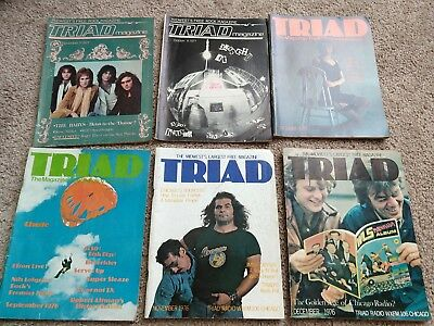 Triad Magazine Chicago lot of 9 Paul McCartney Frank Zappa Sex Pistols