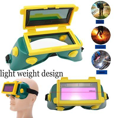 Pro Solar Welding Mask Helmet Arc Auto Darkening Eyes Goggles Welder Glasses