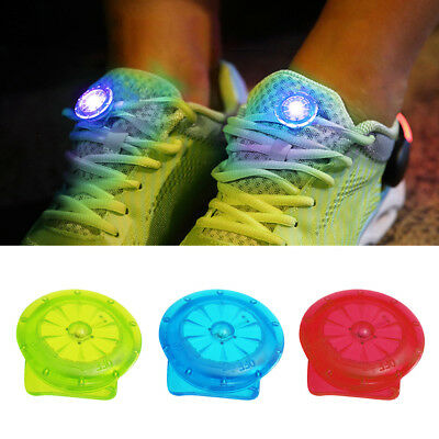 Round Shoes Clip LED Light Night Running Cycling Sport Bright Warning Lamp Noted