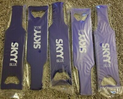 BAR METAL BOTTLE OPENER SKYY BLUE VODKA SET OF 5 BRAND NEW gift holiday alcohol