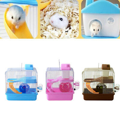 UK_ 2 Tiers Gorgeous Large Hamster Mouse Cage Storey Fantasia Hamster Cage Castl