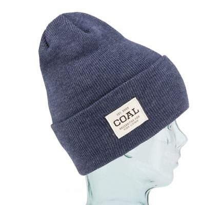 3bcdf2198b18f Coal Headwear THE UNIFORM Unisex 100% Acrylic Cuffed Beanie Heather Navy NEW