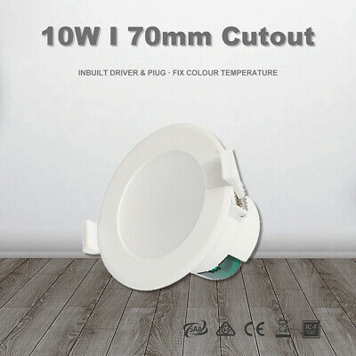 10W Led Downlight Kit 70mm Cutout Warm/Daylight White Dimmable/Non dim IP44 IC-F