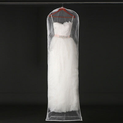 Bridal Wedding Dress Dust Cover Garment Storage Bag Mesh Gown Cover Protector