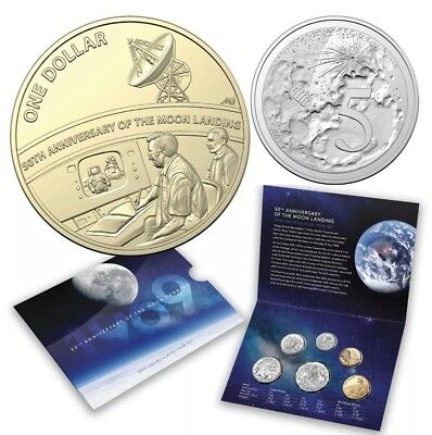 2019 6-Coin UNC 50th Anniversary Moon Landing