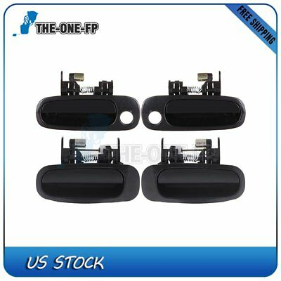 4Pcs Door Handles for 98-02 Corolla Black Exterior Right/Left Side Front&Rear