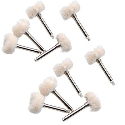 10Pc Polishing Wheel Wool Cotton Polisher Prophy Brushes F/Rotary Tools Dental