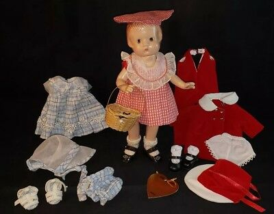 "Vintage Effanbee  PATSYETTE 9"" Doll  Composition With Extra New Clothes"