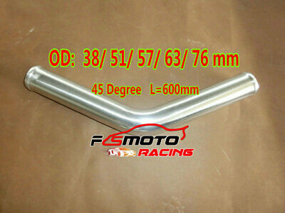 45 Degree Aluminium Intercooler Turbo Tube Joiner Pipe L=600mm 38//51//57//63//76mm