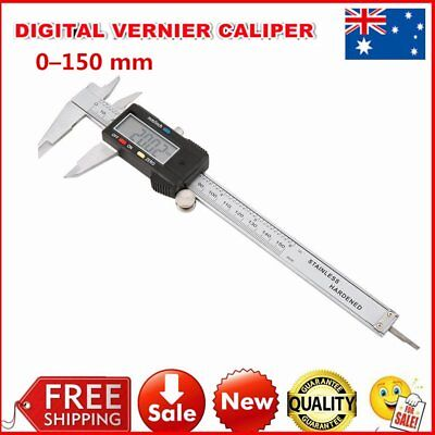MM/ INCH/ F Caliper Vernier Electronic LCD Digital Gauge Stainless Micrometer 6""