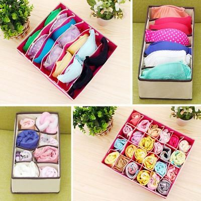 Foldable Organizer Drawer Storage Box Case For Bra Ties Underwear Socks Divider