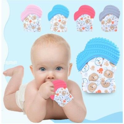Newborn  Baby Mitts Teething Mitten Glove Candy Wrapper Sound Teether Xmas Gifts