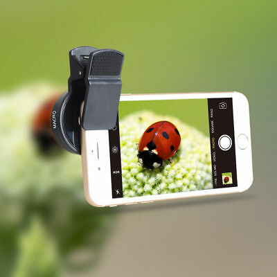 2 in 1 Clip-on 0.45x Wide angle lens & 12.5x Macro lens For iPhone, HTC, Samsung