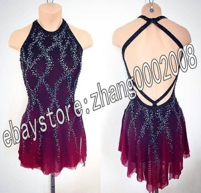 Competition Ice skating dress.Sleeveless Figure Skating Dance Dress Baton custom