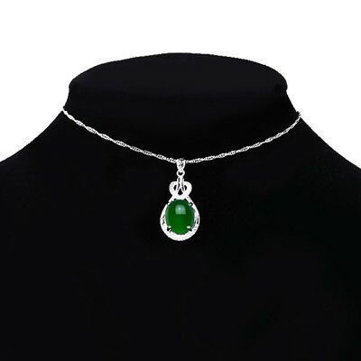 Emerald Crystal Green /& Silver Rectangle Pendant Crystal Necklace N365