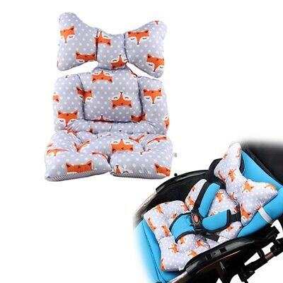 Pushchair Stroller Seat Pad Cushion Animal Star Printing Baby Carriage Car Mat