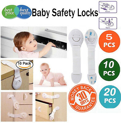10PCS Magnetic Cabinet Drawer Cupboard Locks for Baby Safety Child Proof Kids US