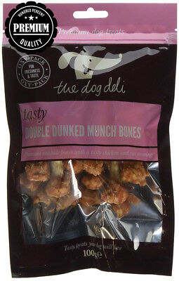 Petface 100g Pack Double Dunked Munch Bones (Pack of 5, total 500g)