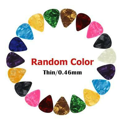 Guitar Picks Accoustic Electric Bass Plectrums Plec Assorted Colours 0.46MM Gift