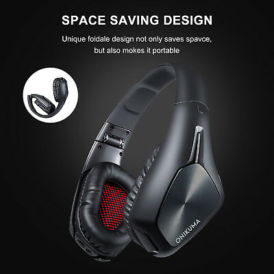 7.1 DTS Casque Noir Wireless PC Gaming Headset pour PS4 Xbox one Nintendo Switch