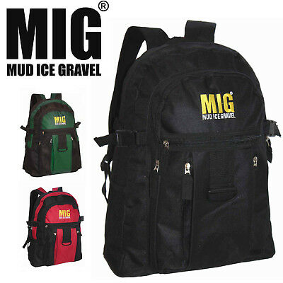 b6cdaa7eb71 Mens Backpack Bag by MIG - RUCKSACK WITH MULTI SECURE ZIP COMPARTMENTS  MG-218