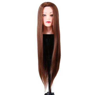 30% Human Hair Practice Hairdressing Training Head Mannequin Doll + Clamp AU