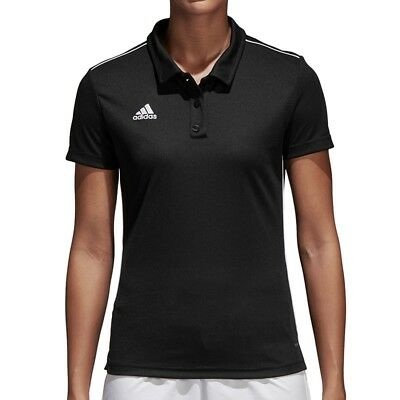 ADIDAS PERFORMANCE CORE 18 Polo Women Damen Sport Freizeit Poloshirt CE9039