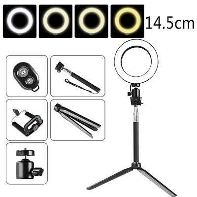 "5.7"" LED Studio Ring Light Photo Video Dimmable Lamp Light Kit Fr Camera & Phone"