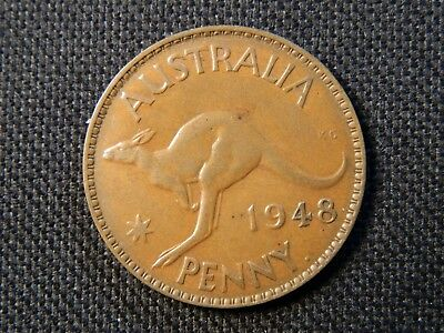 1948y AUSTRALIAN PENNY (harder date, strong coin)