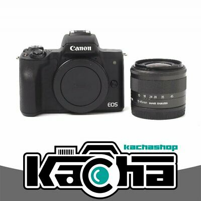 NEUF Canon EOS M50 Mirrorless Digital Camera with 15-45mm Lens (Black)