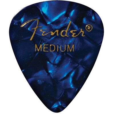 Fender 351 Shape Premium Celluloid Electric Guitar Picks 12-Pk Medium Blue Moto