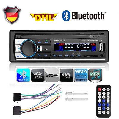 1 Din In-dash Auto Radio Stereo USB/SD Bluetooth FM AUX-IN LCD MP3 Player DHL