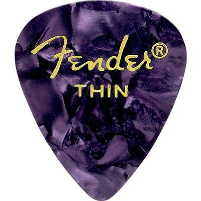 Fender 351 Shape Premium Celluloid Electric Guitar Picks 12-Pk Thin Purple Moto
