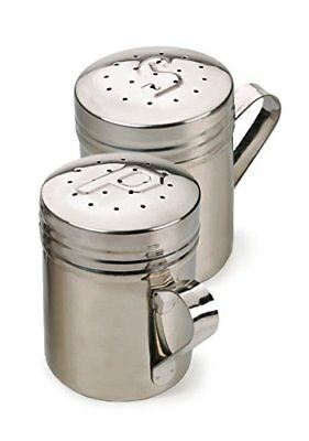 RSVP Endurance 18/8 Stainless Steel Stove Top Salt and Pepper Shakers, 10 ounce
