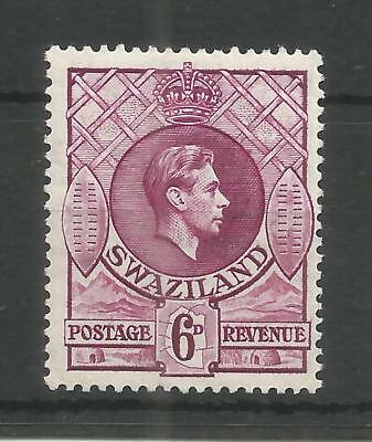SWAZILAND 1938 GEORGE 6TH 6d DEEP MAGENTA SG,34 M/MINT LOT 1235B