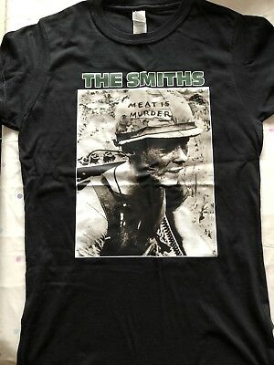 MENS BLACK T-SHIRT THE SMITHS MEAT IS MURDER. Small