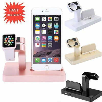ABS Charging Stand Mount Cradle Station Dock for Apple Watch and iPhone X Lot N5