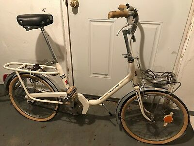 peugeot vintage folding bicycle classic bike needs some tlc been in
