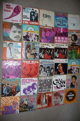 30 x Singles  SAMMLUNG  60-70er Jahre,The Rolling Stones The Kings,Clif Richard