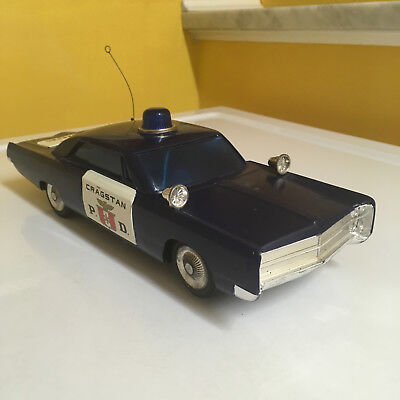 "Cragstan Vintage Large Plastic Battery Operated ""p.d."" Police Car. Fully Working"