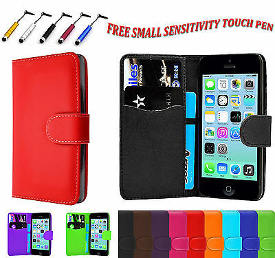 New Magnetic PU Leather Side Flip Book Wallet Case Cover For Apple iPhone 7 UK