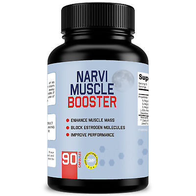 NARVI MUSCLE BOOSTER (90 Capsules) Enhance Muscle - Improve Performance