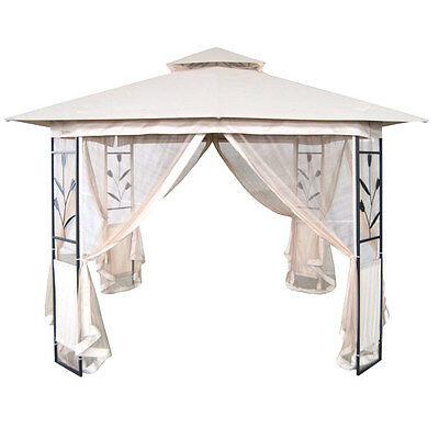 Outdoor Garden Gazebo - 3x3M with sides Mosquito Curtains Wedding Party Marquee